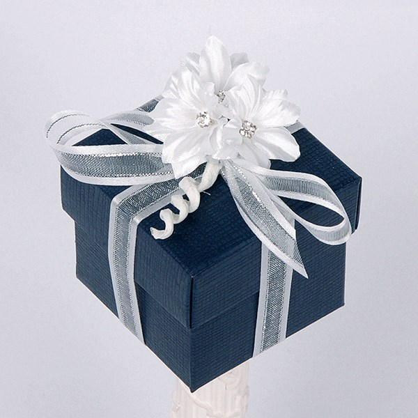 Picture of Silk Navy and White Box & Lid