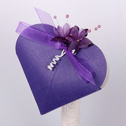 Picture of Silk Purple Design 1 Heart