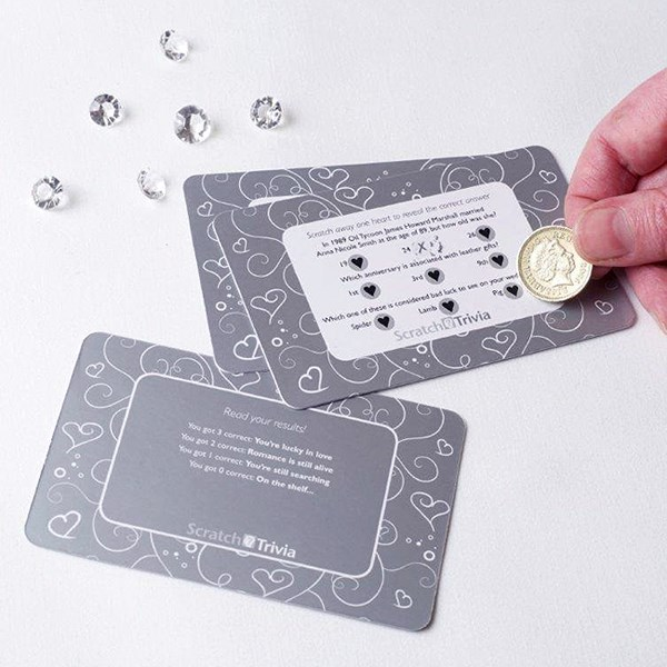 Picture of Silver Wedding Scratch Trivia Cards
