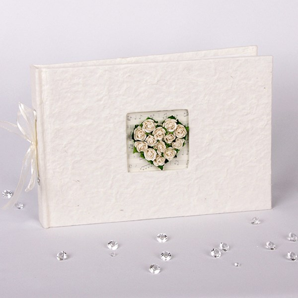 Picture of Simply Roses Guest Book - Heart Design