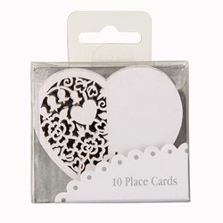 Picture of Something in the Air Heart Place Cards for Glass in White