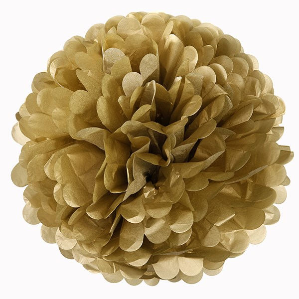 Picture of Something in the Air Pom Poms in Gold
