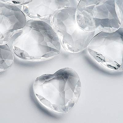 Picture of Clear Heart Table Crystals