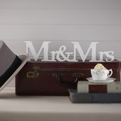 Picture of Vintage Mr and Mrs Freestanding Wooden Sign