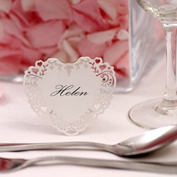 Picture of Vintage Romance - Free Standing Place Card - White
