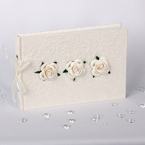 Picture of Vintage Triple Rose Design Guest Book