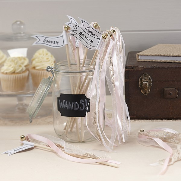 Picture of Wedding Wands - Vintage Affair in Light Pink