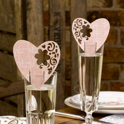 Picture of With Love - Place Cards for Glass in Pink
