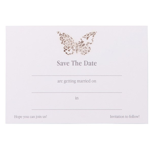 Picture of Something In The Air Butterfly Save The Date Cards