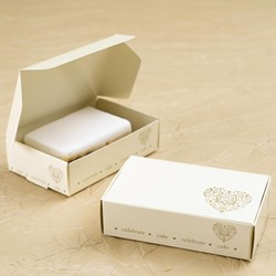 Picture of Vintage Romance - Cake Box - Ivory/Gold
