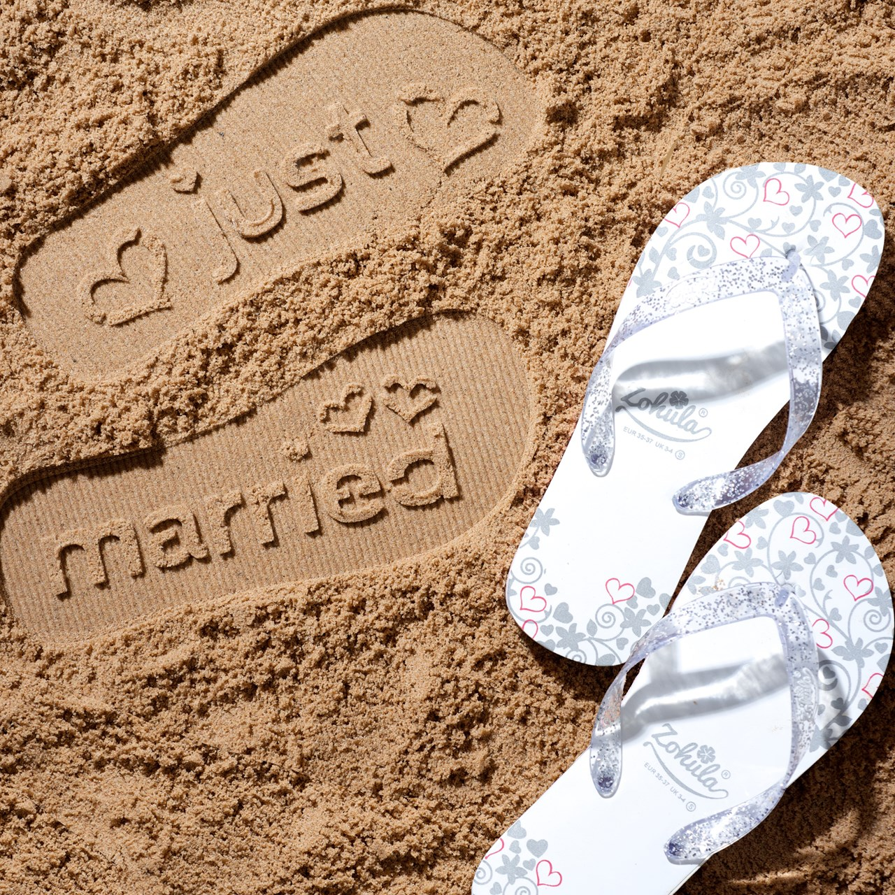 ad1b742a68853 Just Married Flip Flops