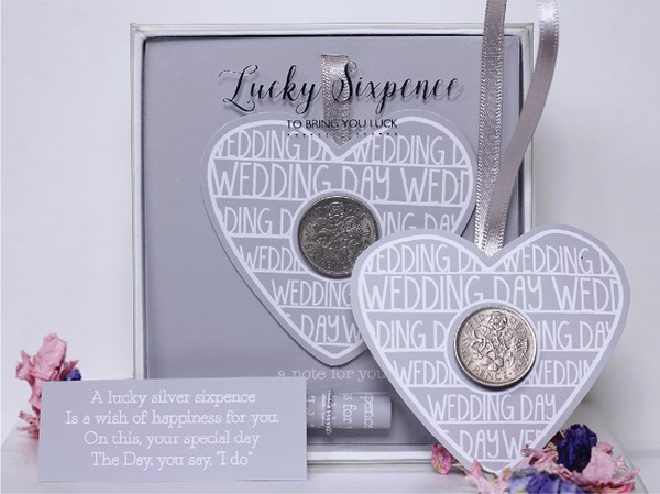 Picture of Lucky Sixpence Wedding Heart