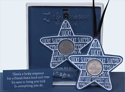 Picture of Lucky Sixpence Blue Star