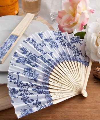 Picture of Elegant French Country Design Fan Favour