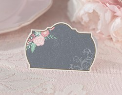 Picture of Black and Pink Place cards