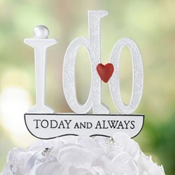 "Picture of ""I DO"" Cake Pick"