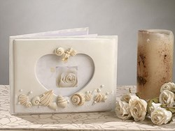 Picture of Beach Theme Wedding Guest Book