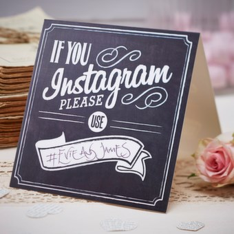 Picture of If You Instagram Table Tent Signs