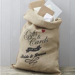 Picture of Hessian Burlap Cards Wedding Sack