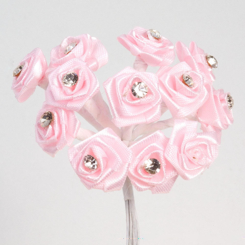 Diamante Ribbon Roses Uk Wedding Favours