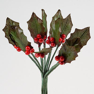 Picture of Holly & Berry Leaves