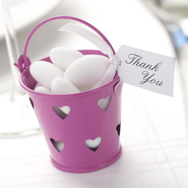 Picture of Heart Design Favour Pails