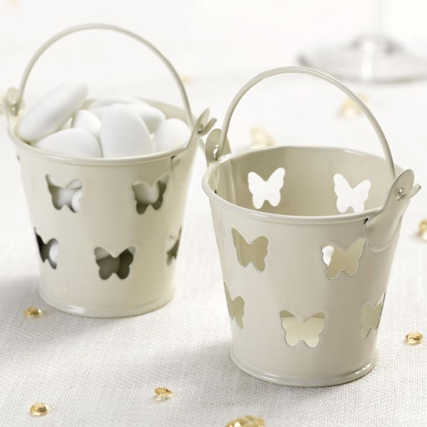 Picture of Elegant Butterfly Favour Pails