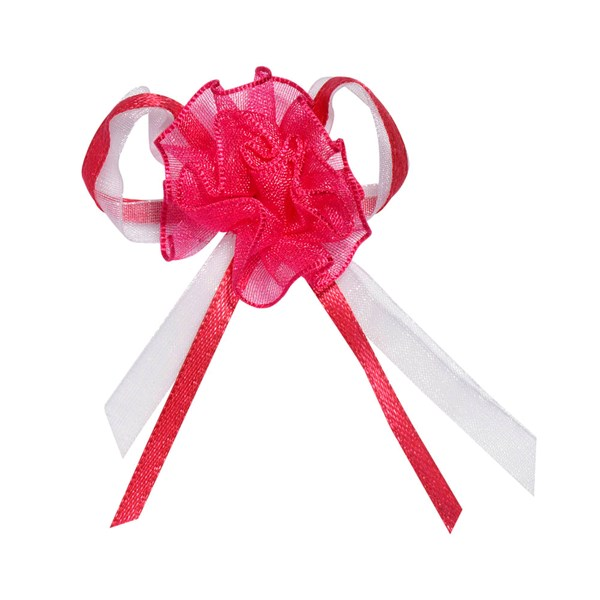 Picture of Satin Bow with Organza Rose