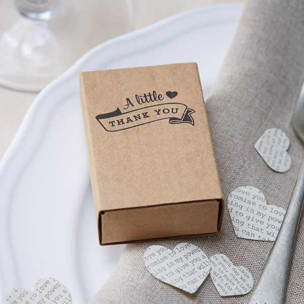 Picture of Kraft Matchbox Favour Boxes