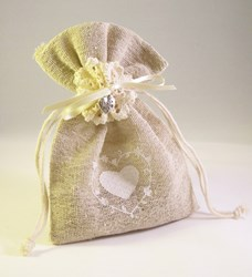 Picture of Hessian Bag with Hearts