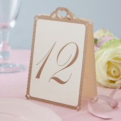 Picture of Heart Table Numbers Ivory & Gold - Love Struck - 1 - 12