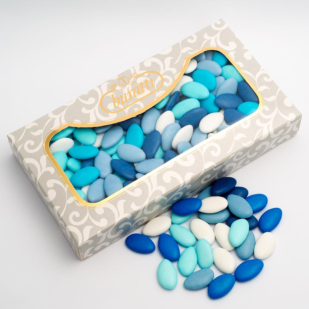 sweets 150 Italian quality blue mini chocolate dragees //wedding favours