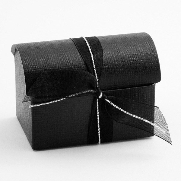 Picture of Black Silk Favour Box