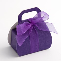 Picture of Purple Silk Favour Box