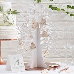 Picture of Wooden Wishing Tree Guest Book Alternative