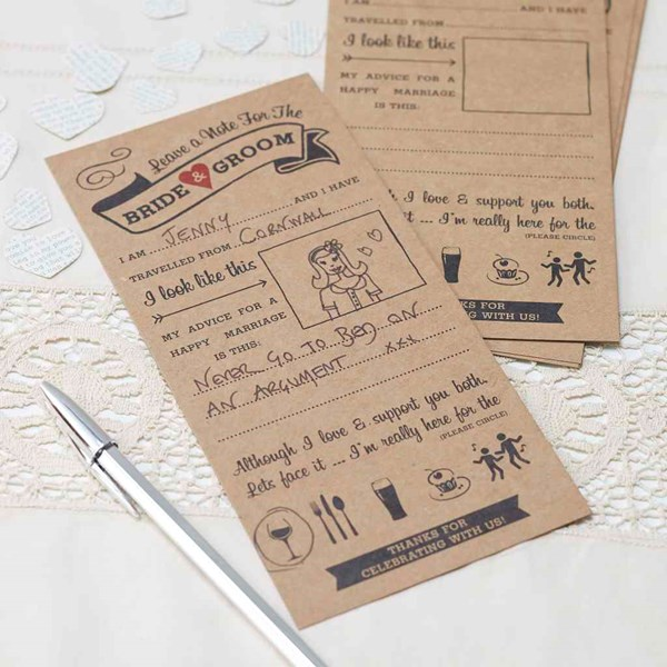 Picture of Advice For The Bride & Groom Cards