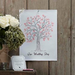 Picture of Finger Print Tree Guest Book
