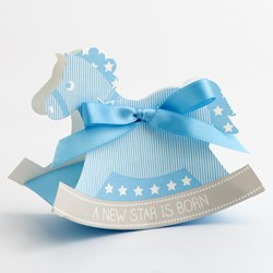 Picture of A New Star Rocking Horse Favour Box Blue