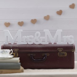 Picture of Vintage Mrs & Mrs Wooden Sign