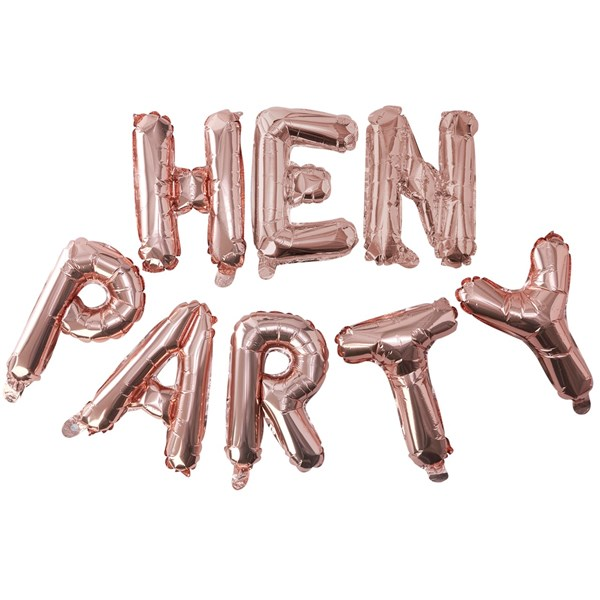 Picture of Foil Balloons - HEN PARTY - Rose Gold
