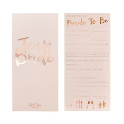 Picture of Advice for the Bride to Be Card - Team Bride