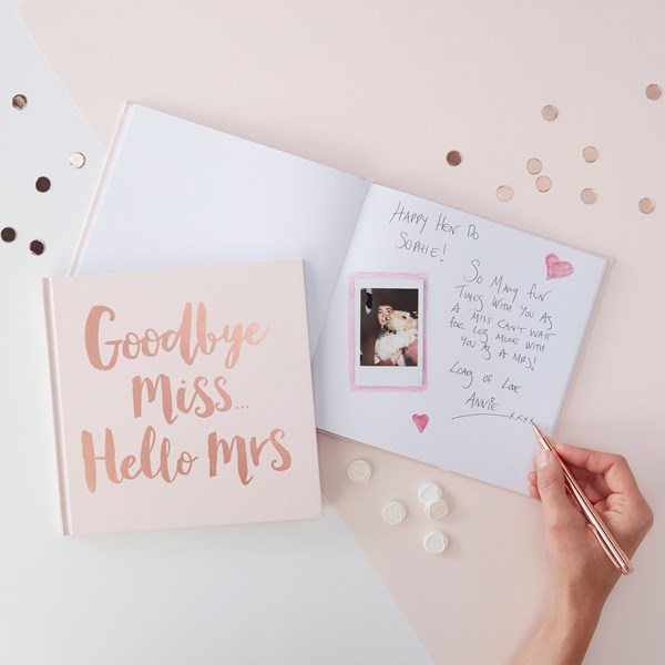 Picture of Team Bride Advice Book - Rose Gold