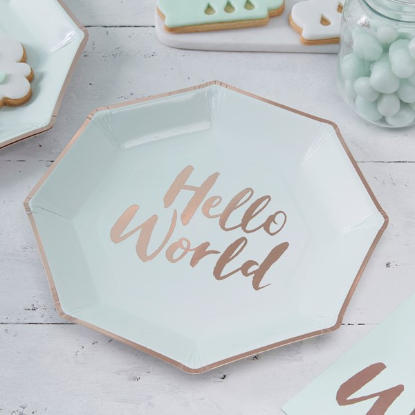 Picture of Paper Plates - Hello World