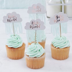 Picture of Cupcake Picks - Hello World