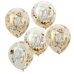 Picture of Confetti Balloons - Gold - Oh Baby!