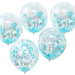 Picture of Confetti Balloons - Baby Boy - About To Pop!
