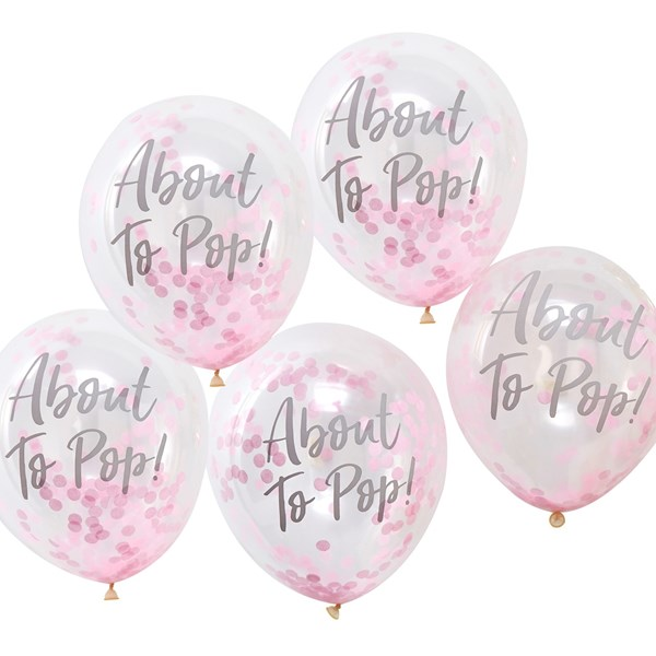 Picture of Confetti Balloons - Baby Girl - About To Pop!