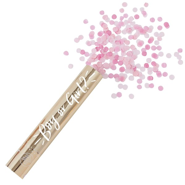 Picture of Confetti Cannon Shooter - Large Pink - Oh Baby!