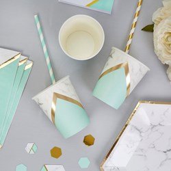 Picture of Paper Cup - Colour Block Marble - Mint