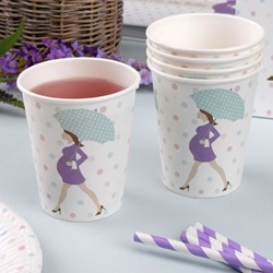 Picture of Paper Straws Stripes - Purple